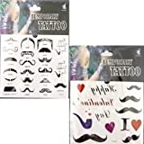 Deluxe Buy 7-25569 Temporary Mustache Tattoos - Pack of 360