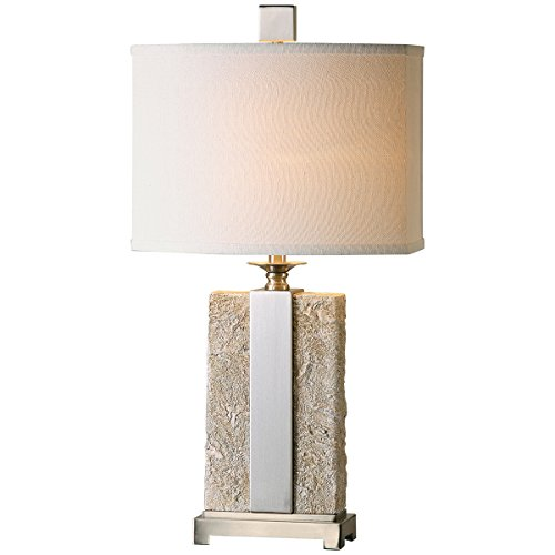 Uttermost 26508-1 Bonea Table Lamp, Stone - Hudson Lamp Transitional Table
