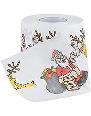 Rollo de papel higiénico navideño de Papá Noel impreso rollo de papel higiénico servilleta decoración de fiesta