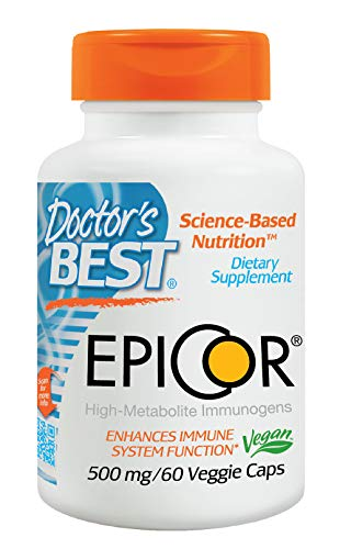 Doctor's Best Epicor, Non-GMO, Vegan, Gluten Free, 500 mg, 60 Veggie Caps