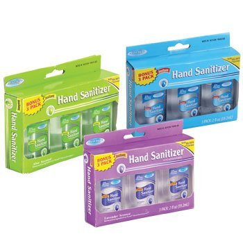 Assured Travel-Size Hand Sanitizers, Aloe Scented 3-ct. Packs