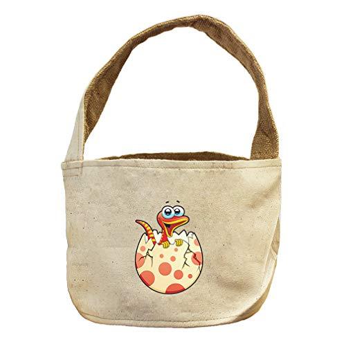 Dinosaur Newborn in Eggshell Animals Canvas and Burlap Storage Basket by Style in Print