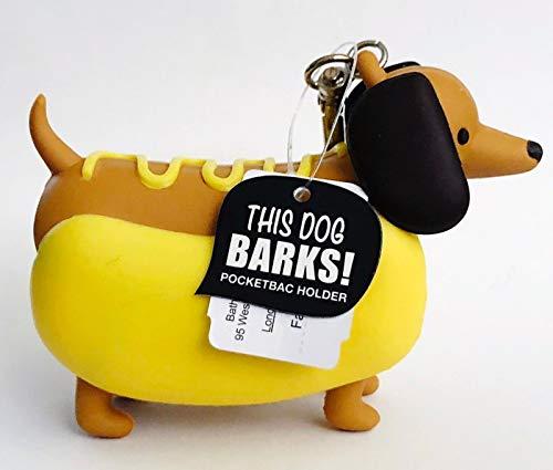 (Bath Body Works PocketBac Hand Gel Holder Barking Dachshund Hot Dog)