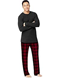 Men's Micro Fleece Pant Set with Waffle Top