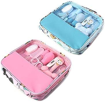 Kit de cuidado de beb/é Moonvvin 13pcs azul set Conjunto de aseo para reci/én nacidos Accesorios esenciales para el cuidado de la salud para viajes en el hogar Uso con bolsa de transporte