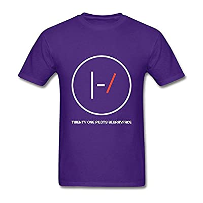 Guwmi Men's Twenty One Pilots Logo T Shirt Purple XXL