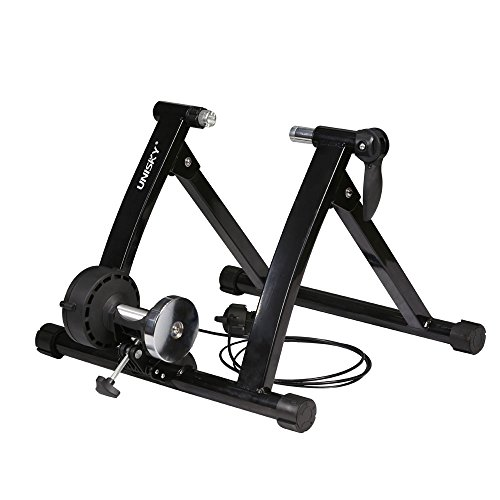 UNISKY Indoor Exercise Cycling Fitness Magnetic Bicycle Trainer Stand- Variable 6 levels of Resistance Bike Trainer for 26-28 Wheels – DiZiSports Store