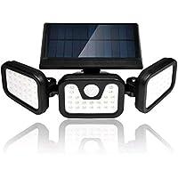 Viugreum Foco solar LED, Luz Solar Exterior, 70 LED Foco Solar con Sensor de Movimiento Lámpara Solar de Seguridad…