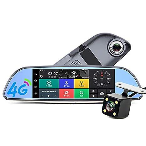 4G Coche DVR Full HD 1080 P Android navegación GPS ADAS 7.0 Pulgadas retrovisor cámara de vídeo grabadora Coche Detector dashcam: Amazon.es: Electrónica