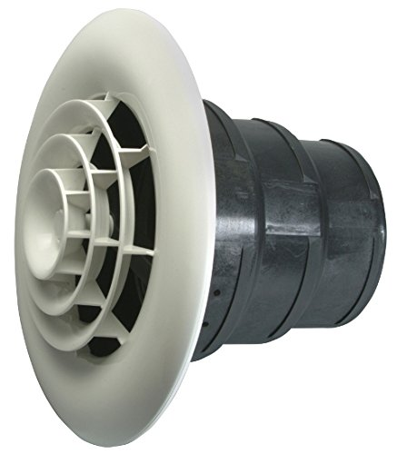 Havaco Quick Connect HT-GRB-R1 White Round Ceiling Diffuser and 8-7-6 in. Reducing (Grb Replacement)