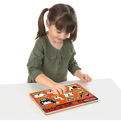 Melissa & Doug Farm Animals Sound Puzzle - Wooden Peg Puzzle With Sound Effects (8 pcs) by Melissa & Doug (Image #4)