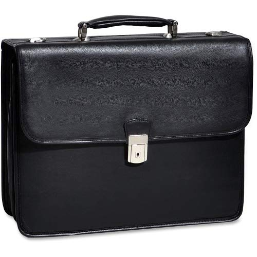 - Double Compartment Laptop Briefcase, Leather, 15.4