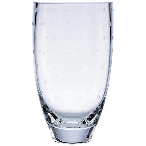 (Kate Spade New York Larabee Dot Bouquet Crystal Vase, 8.75