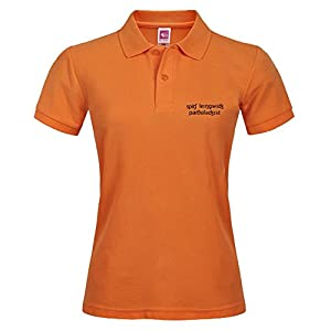 With Orangecolor Women Polo Shirt For Sport Printed With Slp Ipa Size X-large