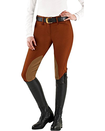 Ovation Euroweave Ladies Breech (Ovation Ladies Euroweave DX Taylored Front Zip Breeches)