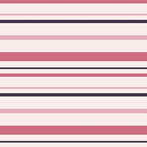 Shades of Pink Stripes Peel and Stick Wallpaper (Wallpaper Shade)