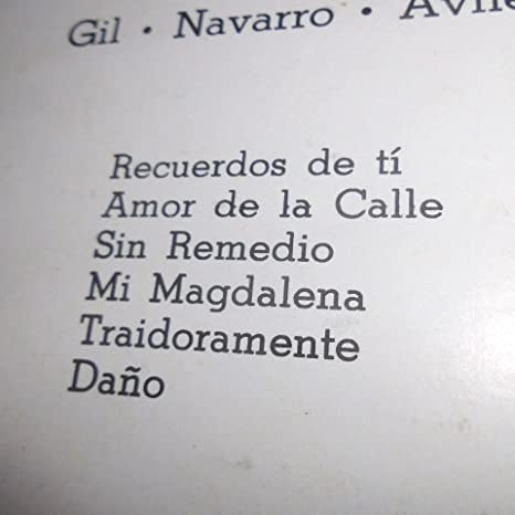 Dr. Roque Carbajo, F. Z. Maldonado, Chucho Navarro, Chucho Martinez Gil, Chucho Monge, Carlos Arturo Briz, Alfredo Gil, Pontier, Carlo Bhar, ...