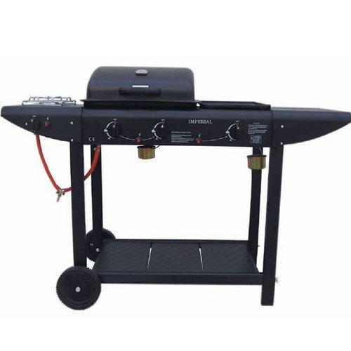 Barbecue Gas Lavasteingrill mit Edelstahl-Herd ER 8206 C-1