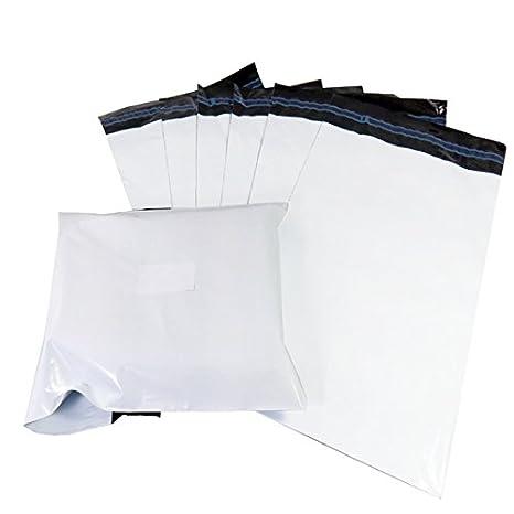 Bolsa de plá stico para enví os postales, color blanco Triplast MBWH10X14200