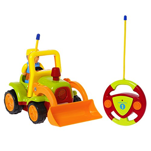 TONOR Rennwagen Traktor Ferngesteuertes Spielzeugauto Cartoon Wagen für Kinder Grün