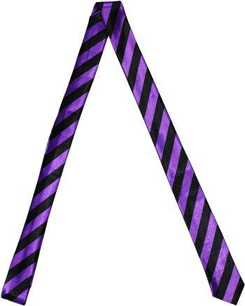 Outer Rebel Fashion Skinny Tie- Black & Purple Diagonal - Fashion Purple Mens
