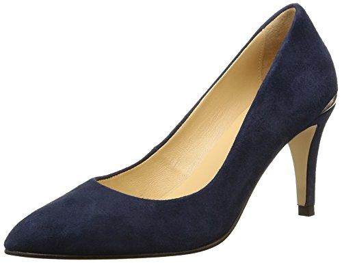 JONAK Damen Aysha Pumps Blau - Bleu (Velours/Bleu)