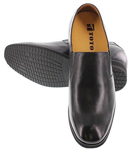 Toto X7127-4 Inches Groter - In Hoogte Toenemende Liftschoenen - Zwarte Leren Damesschoenen