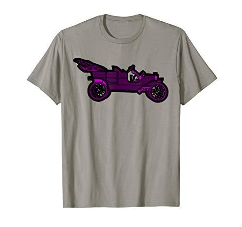 - Retro Model T Convertible Purple Jalopy Funny Antique Car T-Shirt