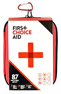 Emergency First Aid Kit - Medical Supplies & Survival Bag for Car, Home, Travel, Backpack, Kayak, Sports, Camping, Earthquake, Trauma, Auto and Office. 87 Pieces, Water-resistant Case, Easy-to-Store. FDA Approved Items. Be Prepared, Buy Now!
