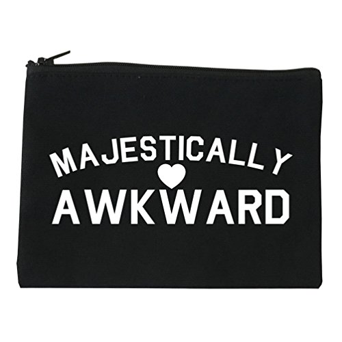 Majestically Awkward Heart Geek Cosmetic Makeup Bag Black Small -