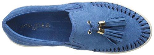 J Slides Jslides Dames Aztec Fashion Sneaker Blue Suede
