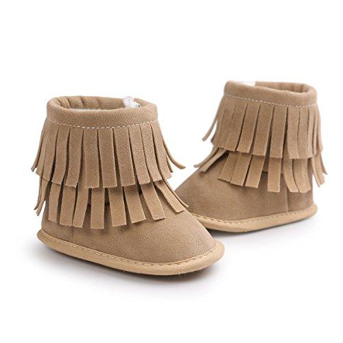 Para Bebé Suave Botines Botas De Con Caminar Calcetín Amorar Borla Invierno Ajustable Nieve Primeros Suela Antideslizantes Zapatos 7 q1gOE1nx8w