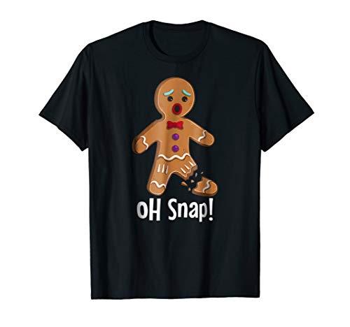 Gingerbread Man Oh Snap Funny Christmas T-Shirt (Christmas Snap Oh T-shirt)