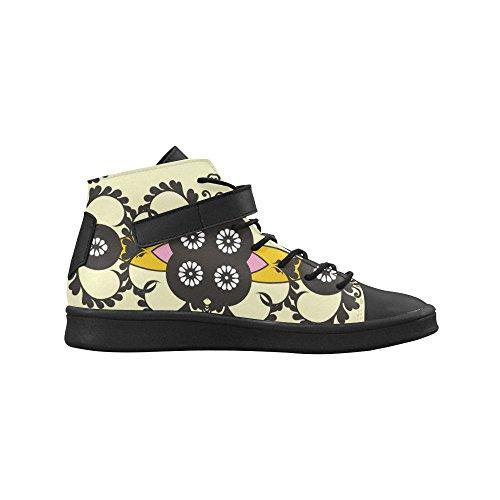 Los Zapatos De Mujer De Punta Redonda Artsadd Swirls And Flowers Boost Sneaker