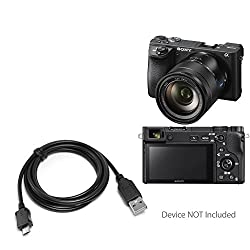Sony Alpha a6500 Cable, BoxWave [DirectSync Cable] Durable Charge and Sync Cable for Sony Alpha a6500