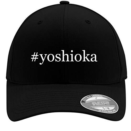- #Yoshioka - Adult Men's Hashtag Flexfit Baseball Hat Cap, Black, Small/Medium