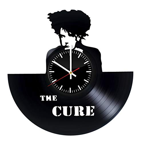 - THE CURE 2 DIY Decorative Designed Modern Vinyl Record Wall Clock Silent Large New Bedroom Livingroom Office Decor Analog Universal Decorate your home Best gift for friend, girlfriend or boyfriend