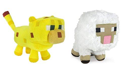 Minecraft Sheep and Ocelot Plush Set, 6-8 -