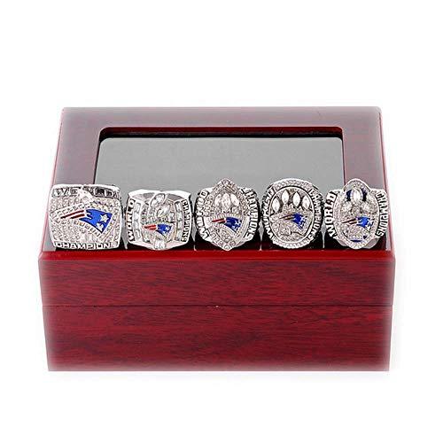 Gloral HIF Mens Set New England Patriots Championship Rings Sets Super Bowl Rings with Display Box