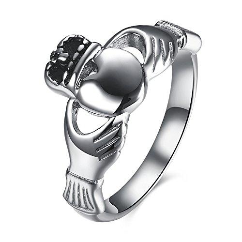 42b91a23630f JAJAFOOK - Anillo de acero inoxidable para mujer
