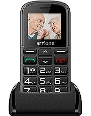 Artfone CS182 Senior Big Button Mobile Phone, Dual SIM GSM Mobile Phone for Elderly with Charging Dock(Black)