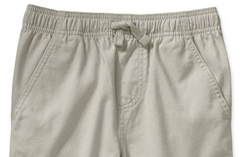 Faded Glory Boys Pull On Pant with Elastic Waist Band and Front Drawstring Sidewalk White, XL, 14-16