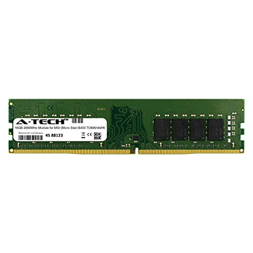 A-Tech 16GB Module for MSI (Micro Star) B450 Tomahawk Desktop & Workstation  Motherboard Compatible DDR4 2666Mhz Memory Ram (ATMS368316A25823X1)