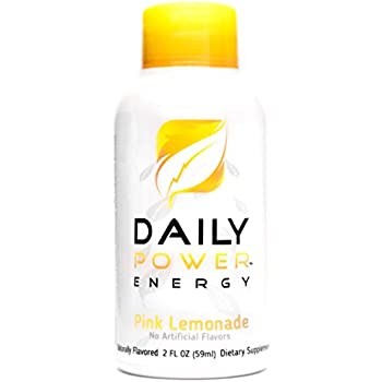 DailyPower Energy Shot - 220mg of Natural Caffeine - 12 Count (Pink  Lemonade)