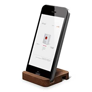 elago Wood Stand(natural wood) for iPhone SE/5/5S, ipad Mini (Angle support for FaceTime) (Walnut).