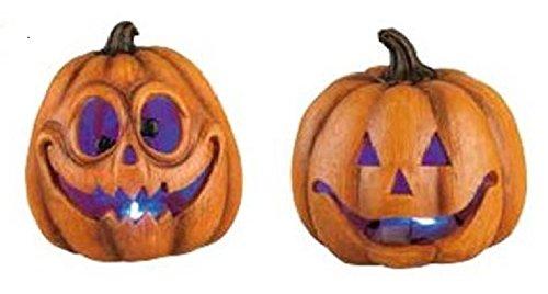 Transpac - Light Up Fun Face Pumpkins - Set of 2 -