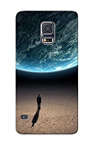 Improviselike High-end Case Cover Protector For Galaxy S5(man Looking At Earth From Space )
