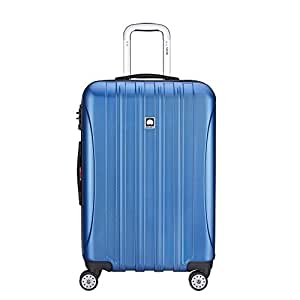 """DELSEY Paris Helium Aero 25"""" Expandable Spinner Trolley, Blue Textured (Blue) - 400764732"""