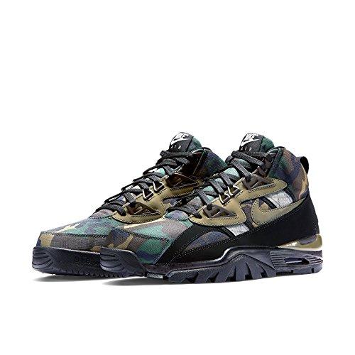 "Nike Air Trainer SC Sneakerboot la ""Camuflaje–Negro/Mediano de olive-black-tar Trainer Verde - Verde camuflaje"