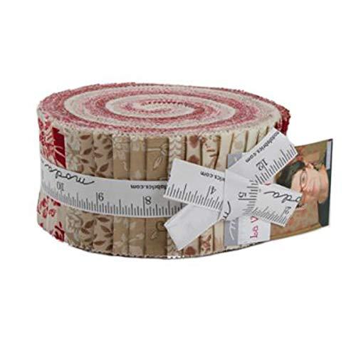 Moda French General La Vie En Rouge Jelly Roll 42 Strips Moda Fabrics